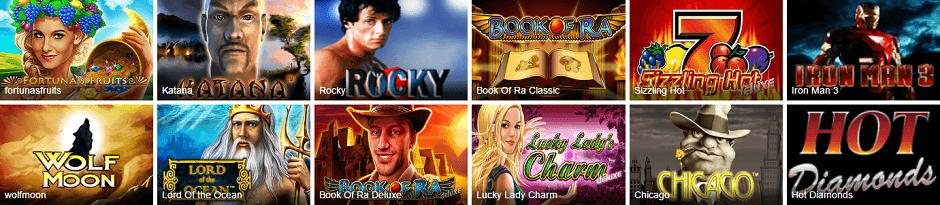 Ares Casino Slots und Spiele