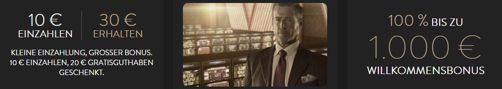 OVO Casino Willkommens Bonus DE